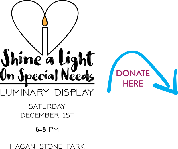 shine a light with donate arrow